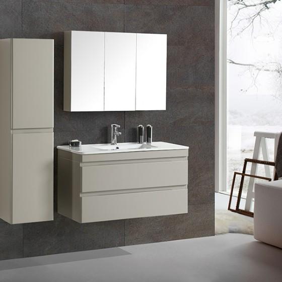 MF-1702 40 Inch MDF PVC Melamine Bathroom Vanities Single