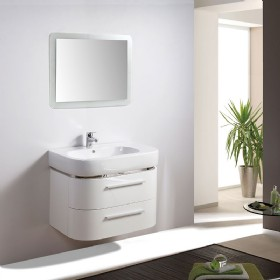 MF-1605 30 inch PVC MDF bathroom vanity cabinet High glossy painting