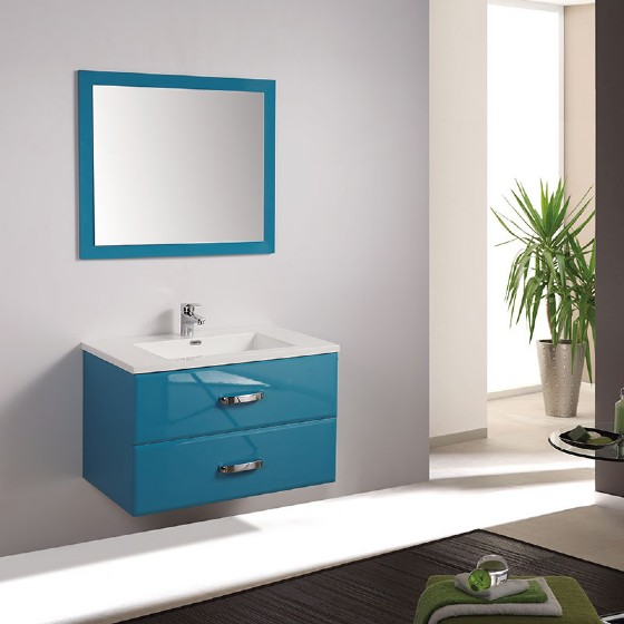 48 Inch Double Basin Mdf Bathroom Cabinet With Melamine Hangzhou