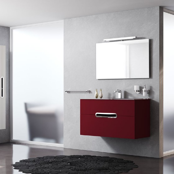 24 Inch Mdf Bathroom Cabinet With High Glossy Painting